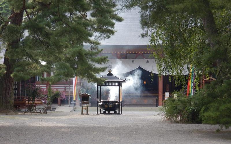 金鶏山と毛越寺
